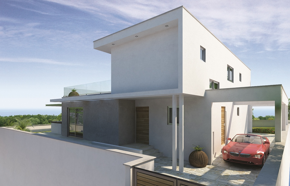 Luxury Villa in the hills of Ayia Napa Type A 3D from back