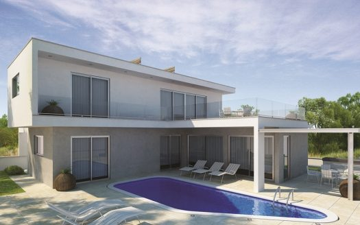 Luxury Villa in the hills of Ayia Napa Type A 3D from outside PoolSide