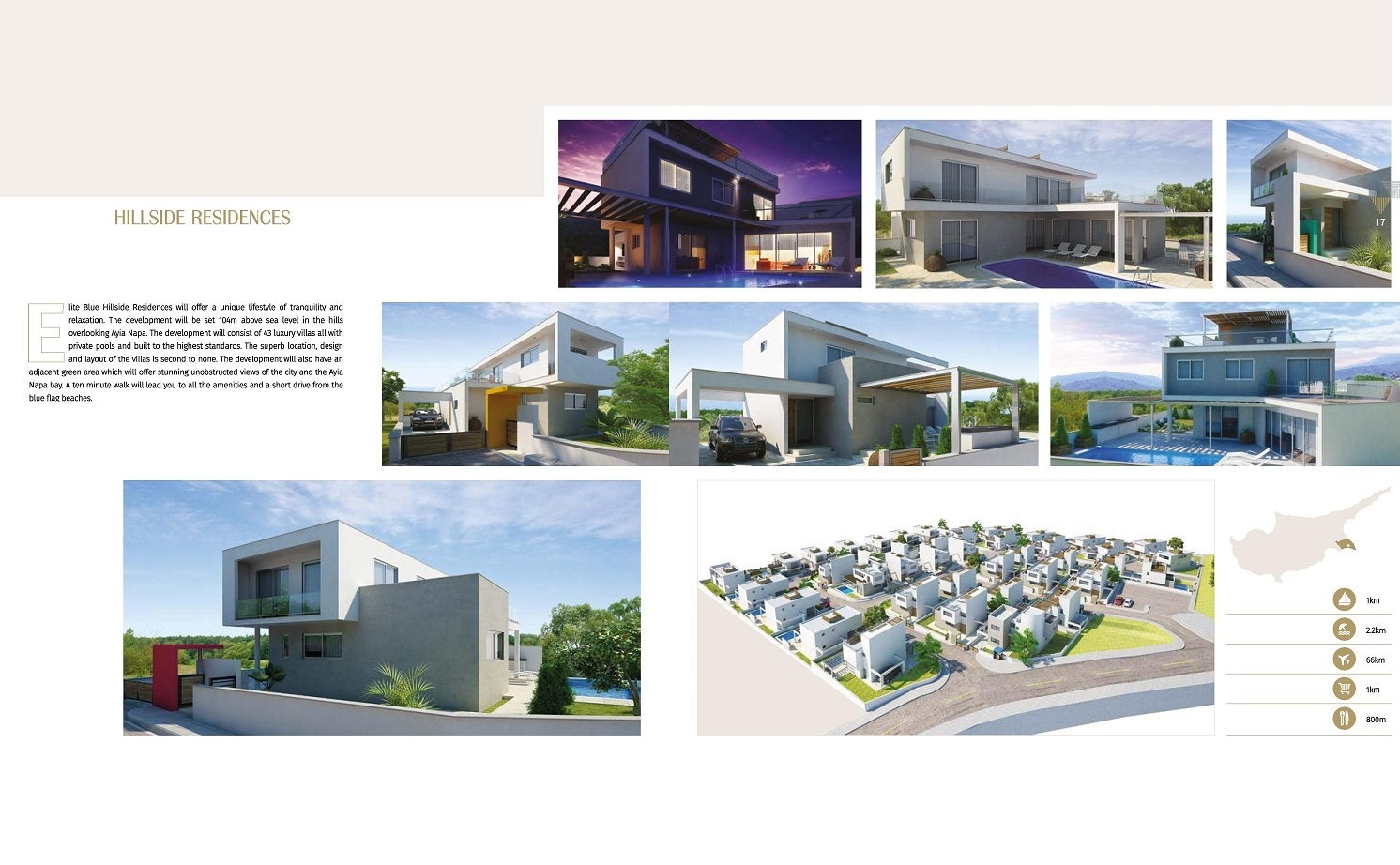 Luxury Villas in the hills of Ayia Napa Project Overview