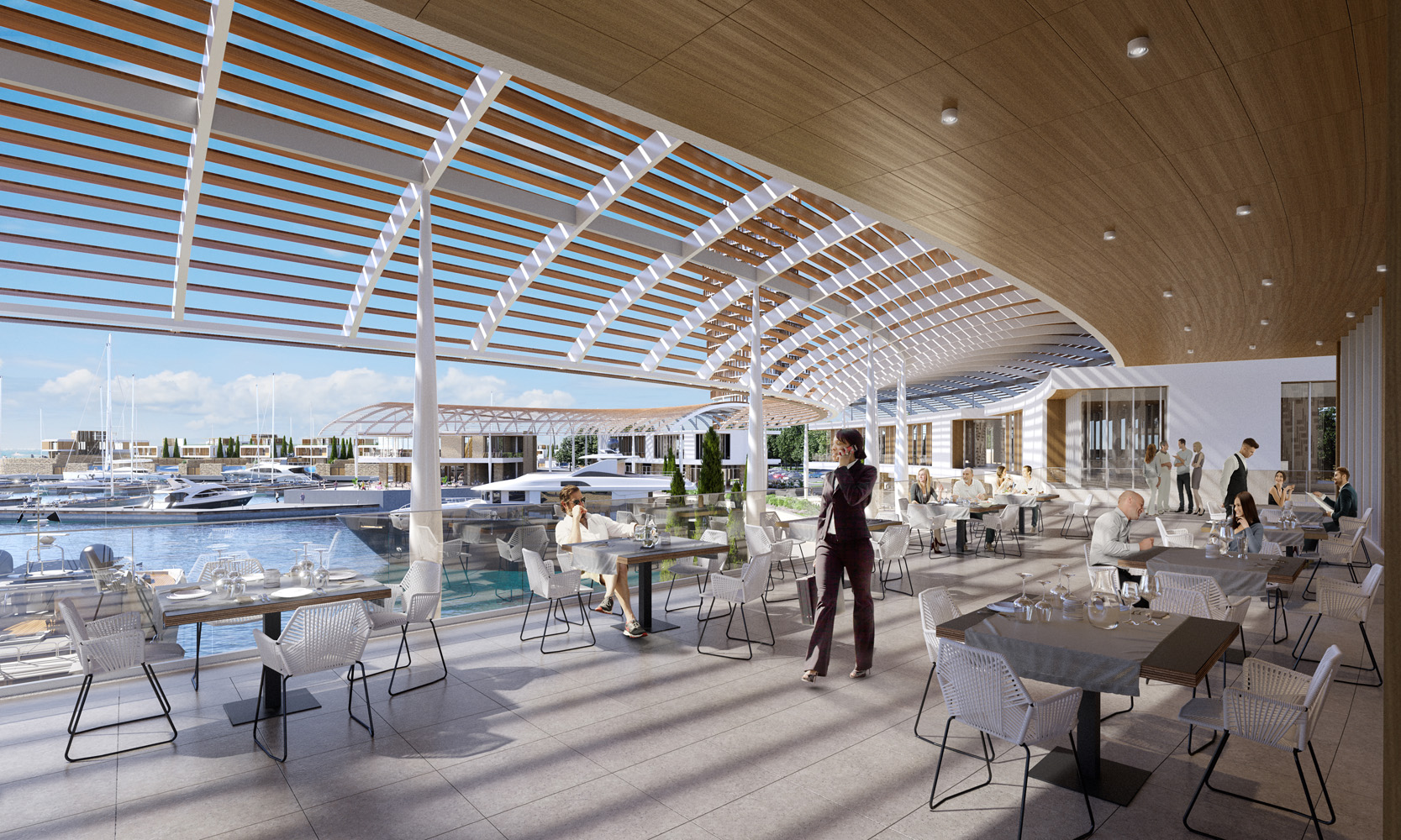 Ayia Napa Marina Pyare Village Parasol Top Floor Restaurant