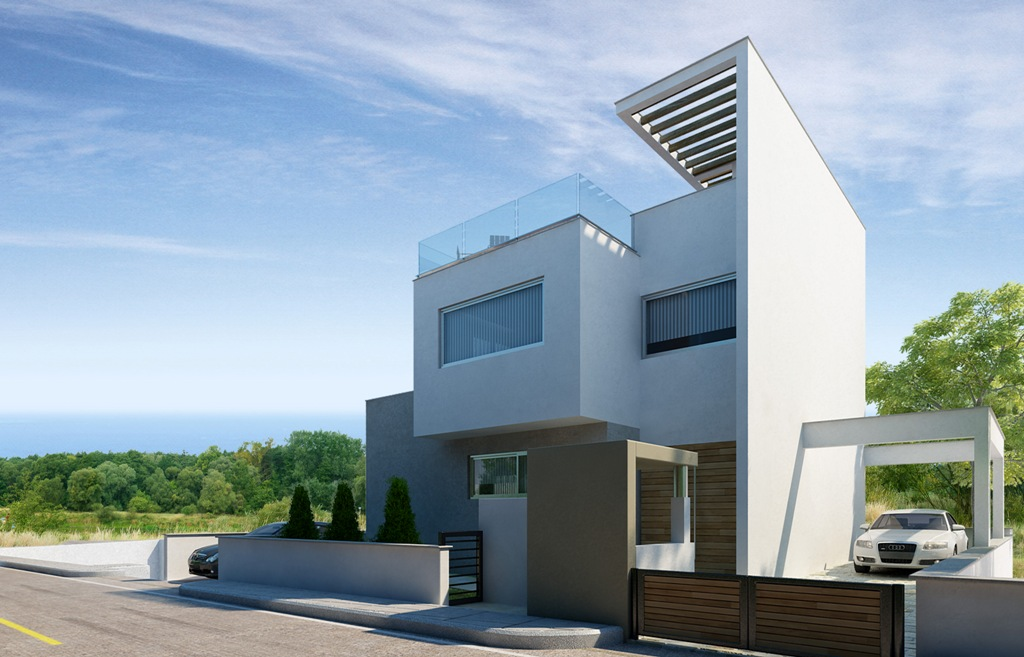Luxury Villas in the Hills of Ayia Napa (Type E) Villa 1 From Behind