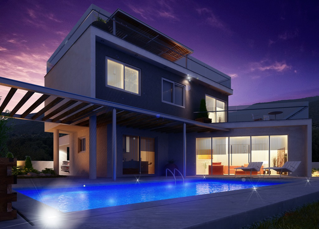 Luxury Villas in the hills of Ayia Napa (Type B) Night