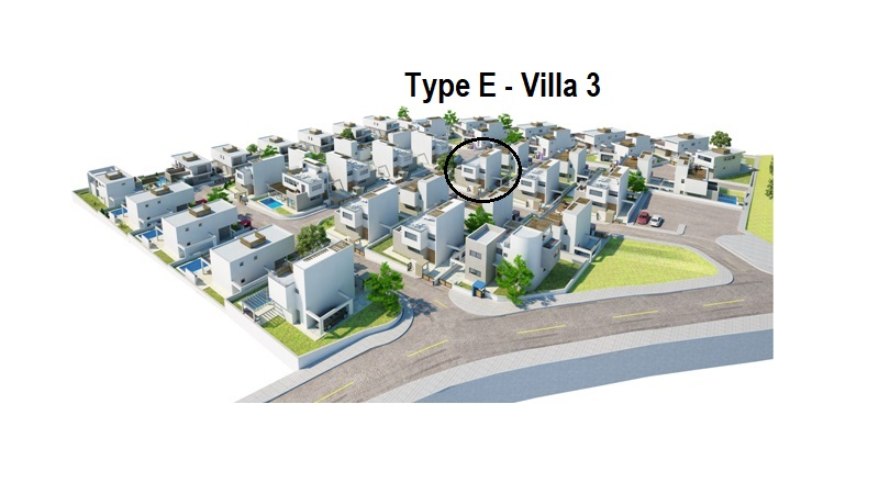 Luxury Villas in the Hills of Ayia Napa Type E Villa 3 Position in the complex