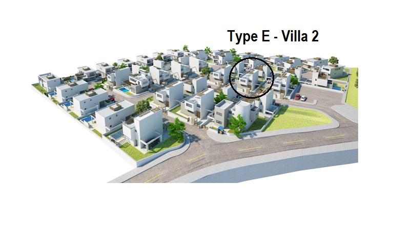 Luxurt Villas in the Hills of Ayia Napa Type E Villa 2 Position